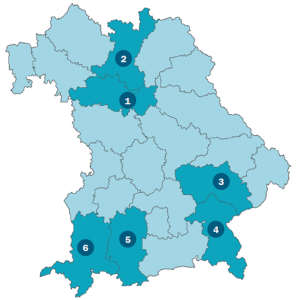 Karte der Workshopregionen