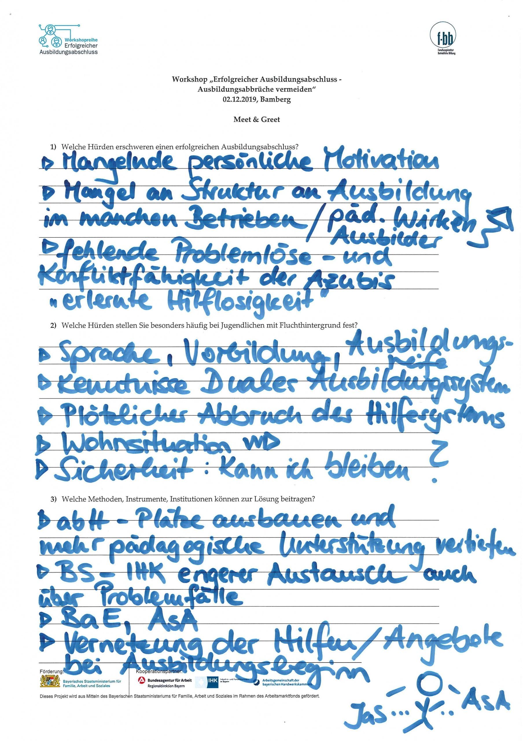Meet & Greet Gruppe 5