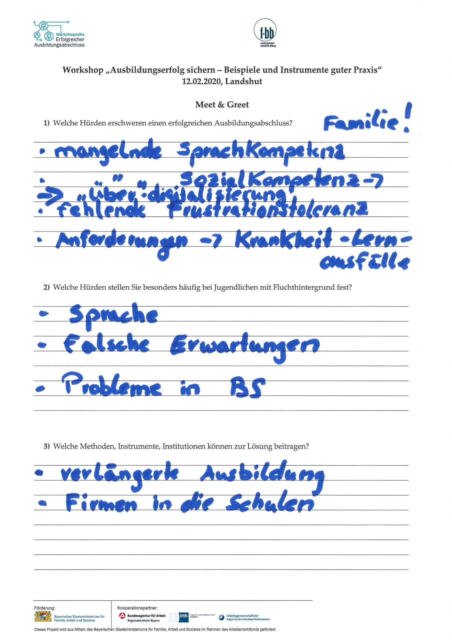 Workshop Landshut-Pfarrkirchen